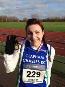 me at Bromley 10k with medal
